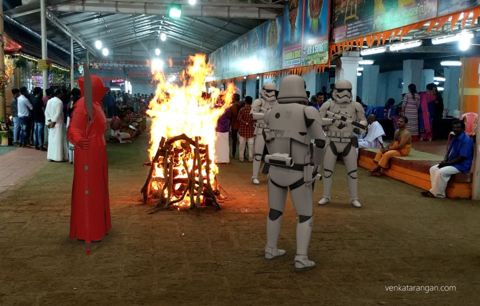 It seems the Empire had sent its stormtroopers to monitor the locals - The AR Picture was taken with my Google Pixel 2 #NotTrue