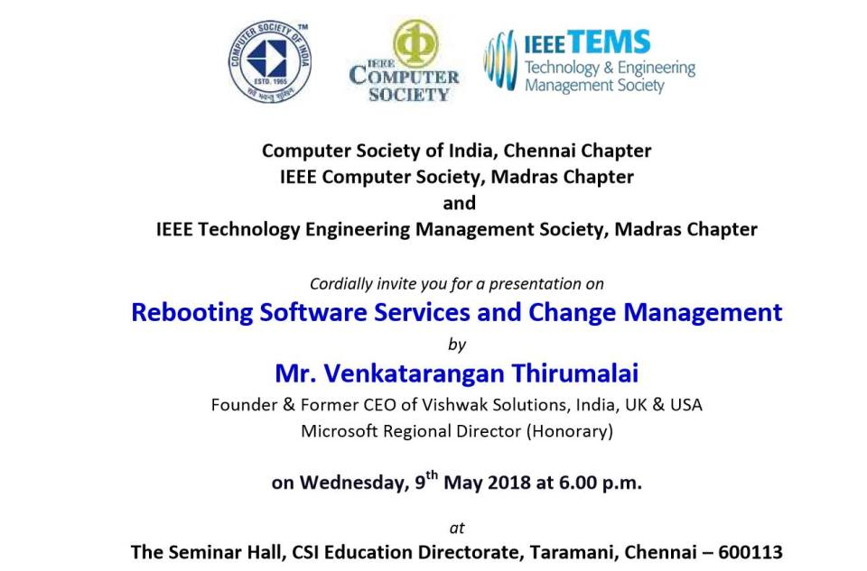 Computer Society of India & IEEE Computer Society of Madras Chapter