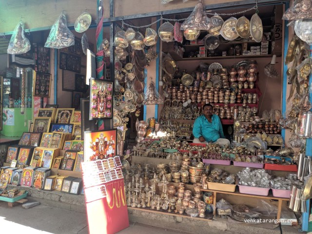 Shops even sell copper vessels and bronze utensils