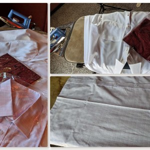 New Shirts have to be removed from the bags, then pressed before they are ready for wearing
