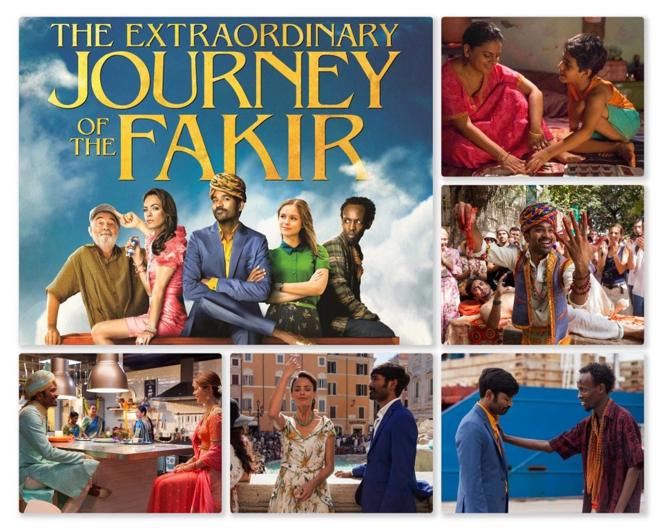 The Extraordinary Journey of the Fakir (2019) - Dhanush, Bérénice Bejo, Erin Moriarty. Directed by Ken Scott.