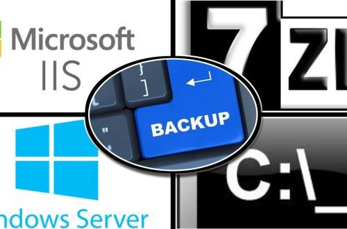 Windows Batch file to backup IIS wwwroot using 7Zip