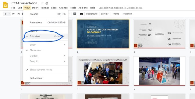 Google Slides has a similar feature. Select View->Grid View from the menu.