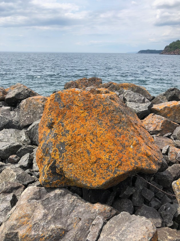 A giant rock full of rust.