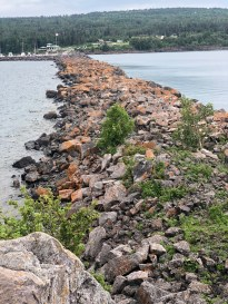 The breakwater from the top of Pellet Island.