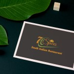 7h Spices South Indian Restaurant Logo Venkidesigns
