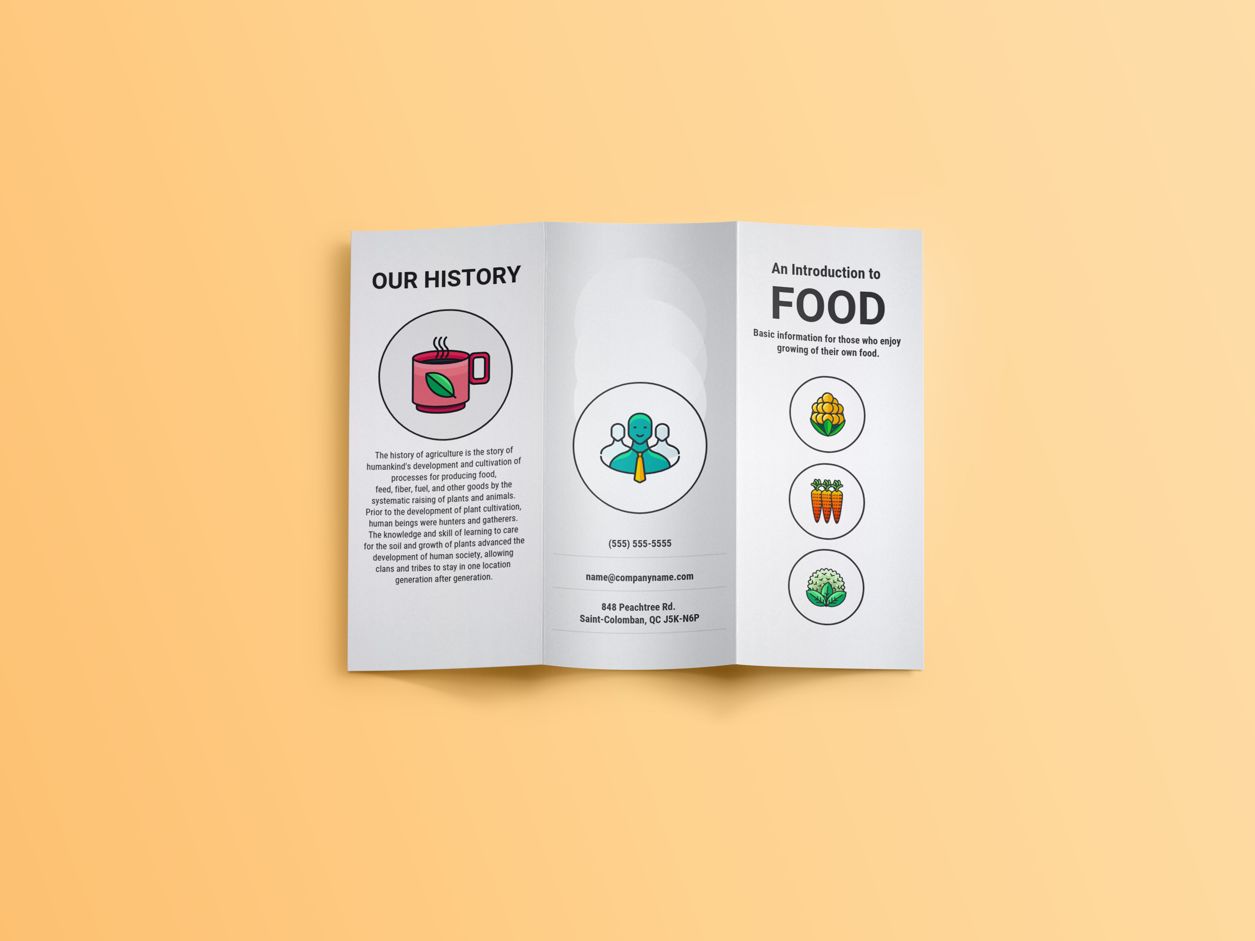 White Farm Fresh Trifold Brochure Example Venngage