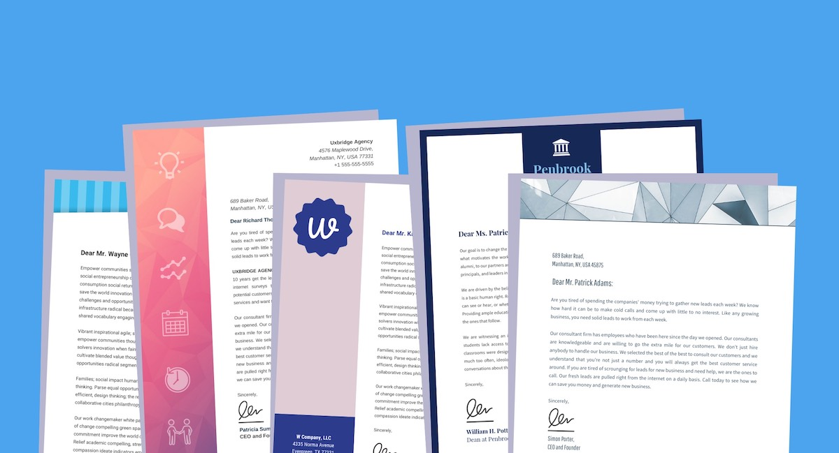 20 Professional Business Letterhead Templates And Branding