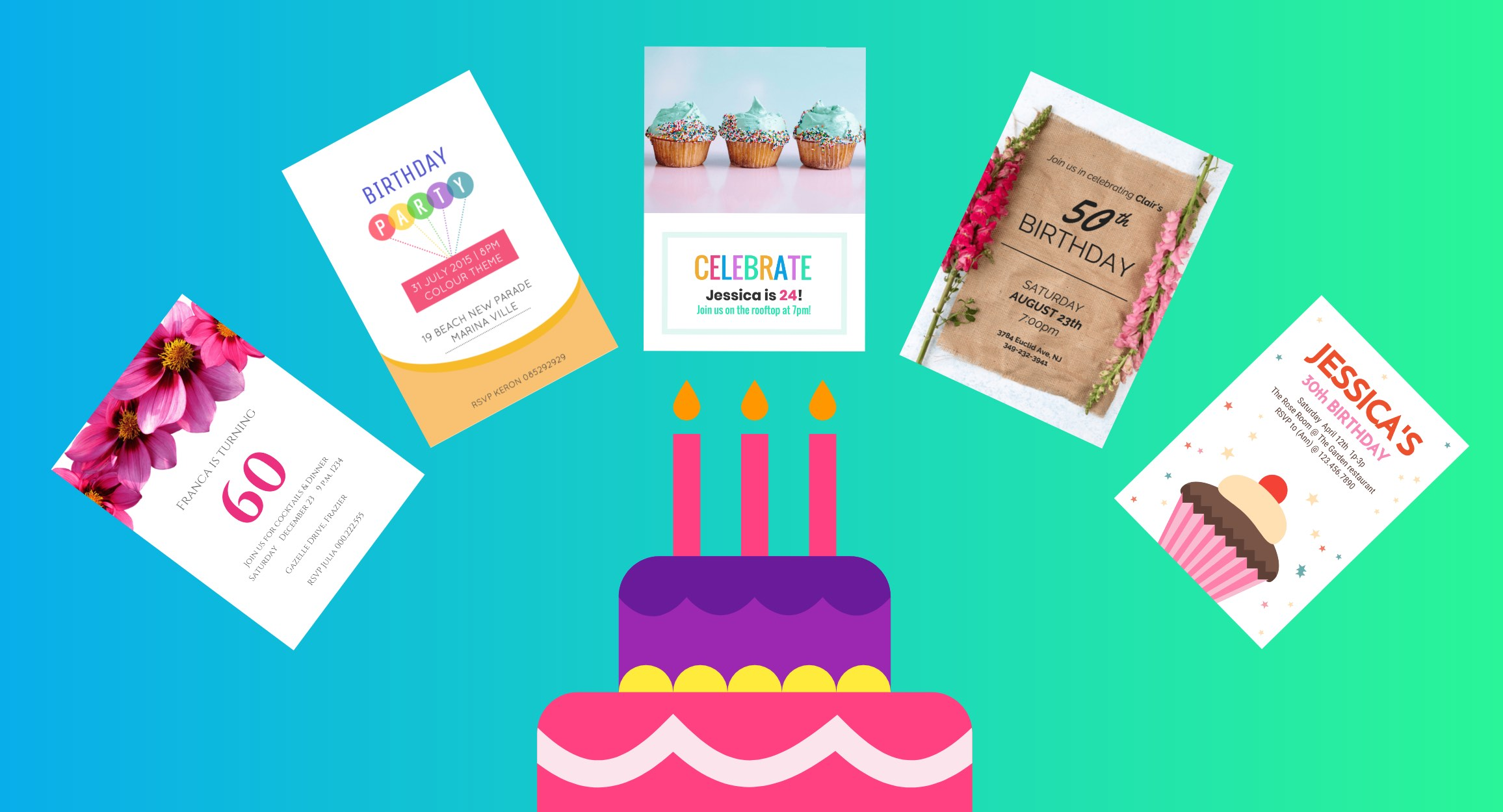 10 creative birthday invitation card