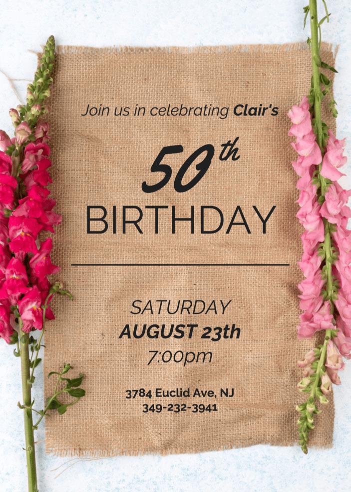 10 creative birthday invitation card