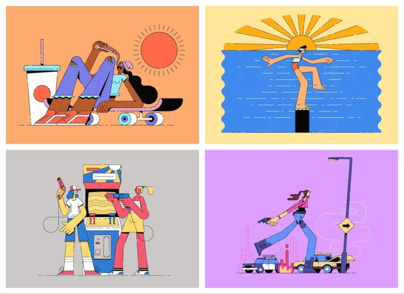 Graphic Design Trends 2020 - Abstract Illustrations 7