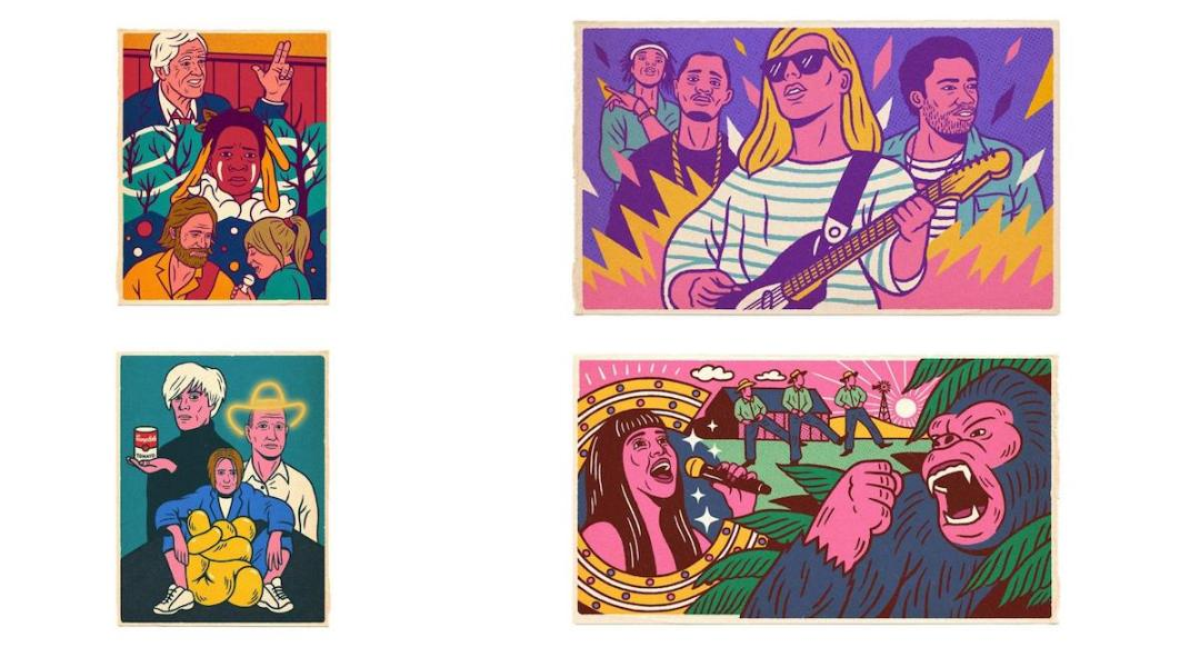 Graphic Design Trends - Dynamic and Complicated Hand-Drawn Illustrations 4