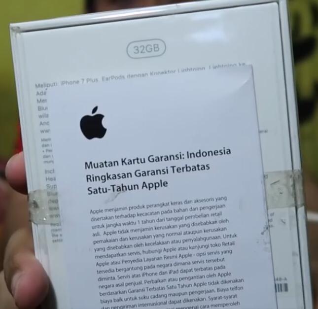 Kartu Garansi Resmi iPhone