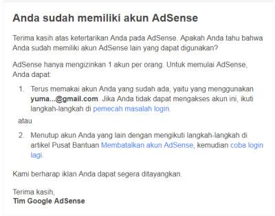 Hapus Akun Adsense Lama Untuk Daftar Ulang