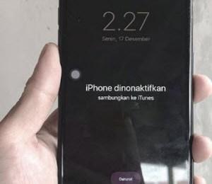 Lupa Kata Sandi iPhone, iPhone dinonaktifkan coba lagi dalam 1 menit