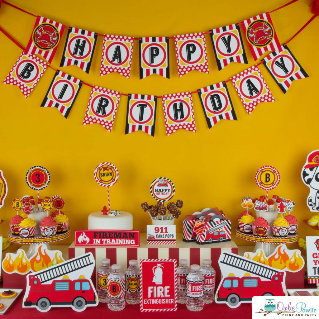 Fire Truck Birthday Party Vens Party Ideas