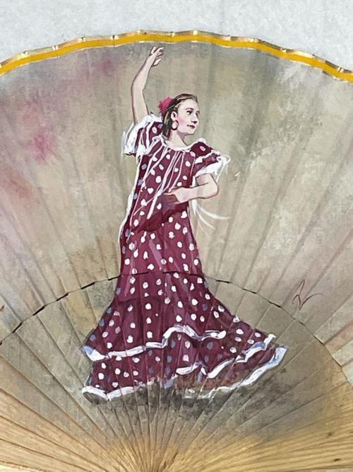 ventaglio ballerina flamenco dettaglio