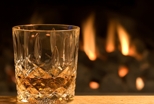 whisky of the glass