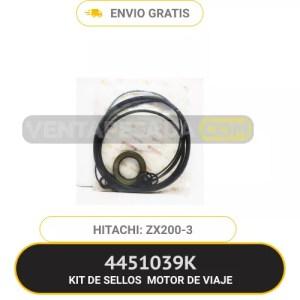4451039K KIT DE SELLOS MOTOR DE VIAJE ZX200-3 HITACHI