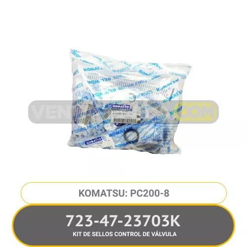723-47-23703K KIT DE SELLOS CONTROL DE VÁLVULA PC200-8 KOMATSU