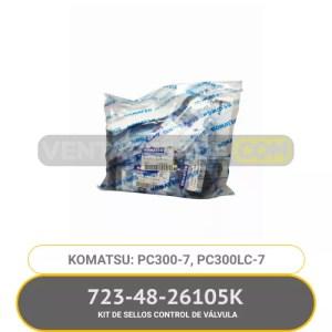 723-48-26105K KIT DE SELLOS CONTROL DE VÁLVULA PC300-7, PC300LC-7, KOMATSU