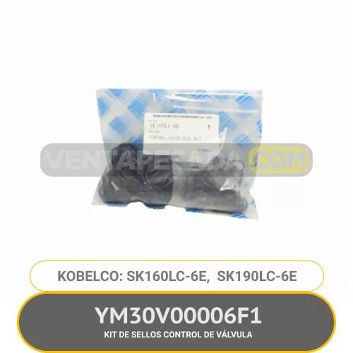 YM30V00006F1 KIT DE SELLOS CONTROL DE VÁLVULA SK160LC-6E SK190LC-6E KOBELCO