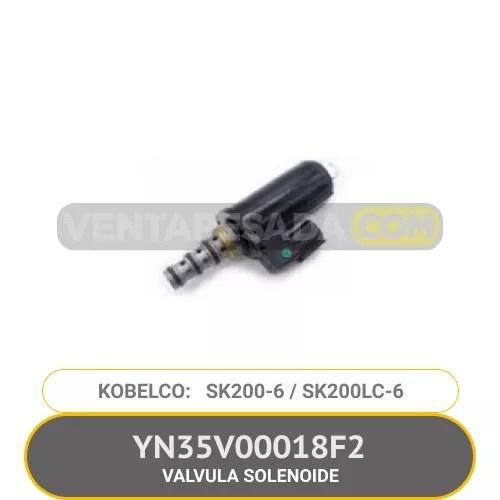 YN35V00018F2 VALVULA SOLENOIDE SK200-6 SK200LC-6 KOBELCO