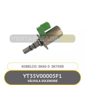 YT35V00005F1 VÁLVULA SOLENOIDE SK60-5 SK70SR KOBELCO