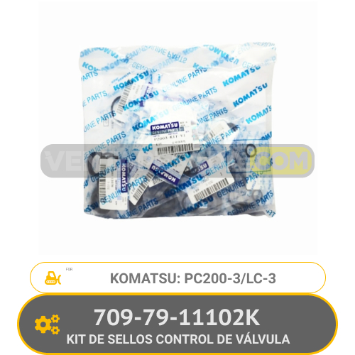 709-79-11102K KIT DE SELLOS CONTROL DE VÁLVULA PC200-3 PC200LC-3 KOMATSU