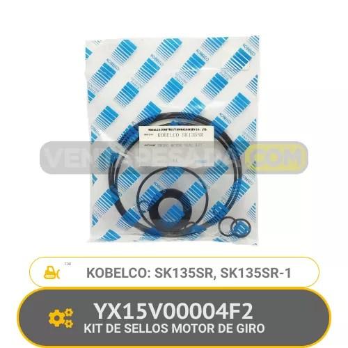 YX15V00004F2 KIT DE SELLOS MOTOR DE GIRO SK135SR, SK135SR-1, KOBELCO