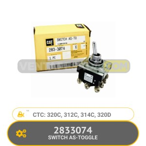 2833074 SWITCH AS-TOGGLE 320C, 312C, 314C, 320D CATERPILLAR