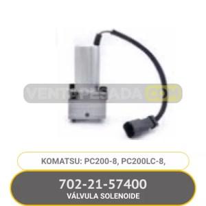 702-21-57400 VÁLVULA SOLENOIDE PC200-8, PC200LC-8, KOMATSU