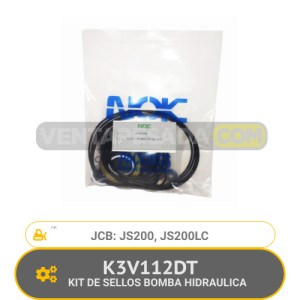 K3V112DT KIT DE SELLOS BOMBA HIDRAULICA JS200, JS200LC JCB