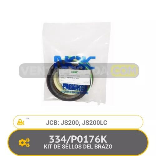 P0176K KIT DE SELLOS DEL BRAZO JS200, JS200LC, JCB