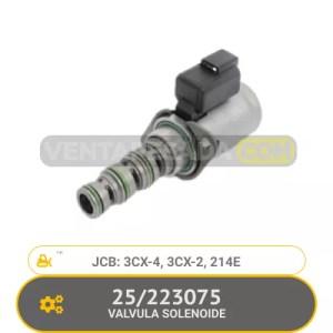223075 VALVULA SOLENOIDE 3CX-4, 3CX-2, 214E, JCB