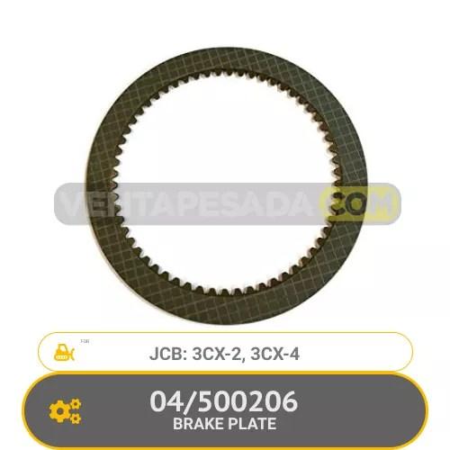 04/500206 BRAKE PLATE 3CX-2, 3CX-4, JCB
