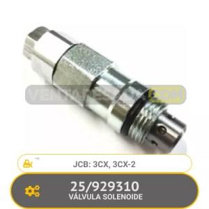 25/929310 VÁLVULA SOLENOIDE 3CX, 3CX-2, JCB
