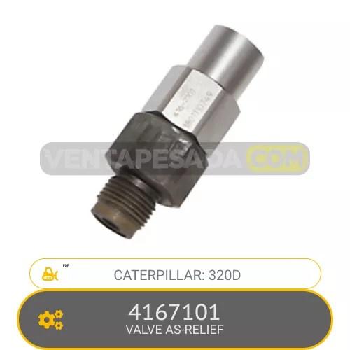 4167101 VALVE AS-RELIEF 320D, CATERPILLAR