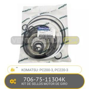 706-75-11304K KIT DE SELLOS MOTOR DE GIRO PC200-3, PC220-3, KOMATSU