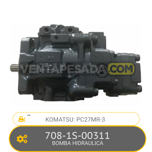 708-1S-00311 BOMBA HIDRAULICA PC27MR-3 KOMATSU