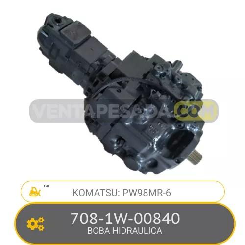 708-1W-00840 BOMBA HIDRAULICA PW98MR-6 KOMATSU