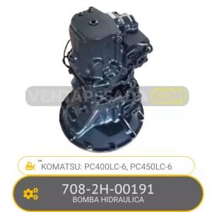708-2H-00191 BOMBA HIDRAULICA PC400LC-6, PC450LC-6, KOMATSU