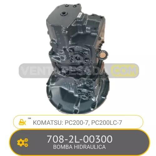 708-2L-00300 BOMBA HIDRAULICA PC200-7, PC200LC-7, KOMATSU