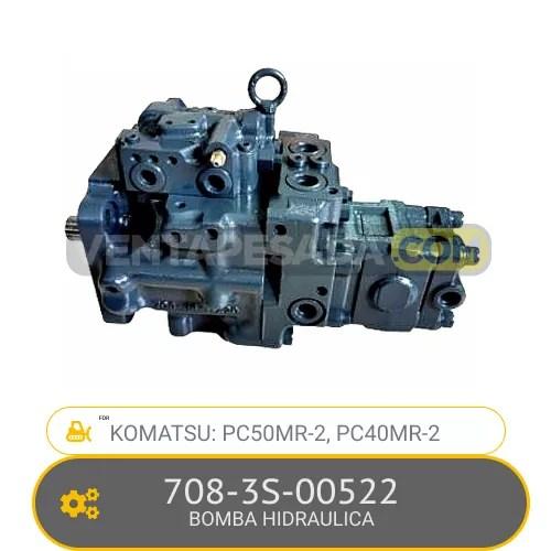 708-3S-00522 BOMBA HIDRAULICA PC50MR-2, PC40MR-2 KOMATSU