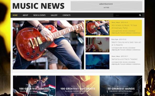 Music Fan Board WordPress Theme
