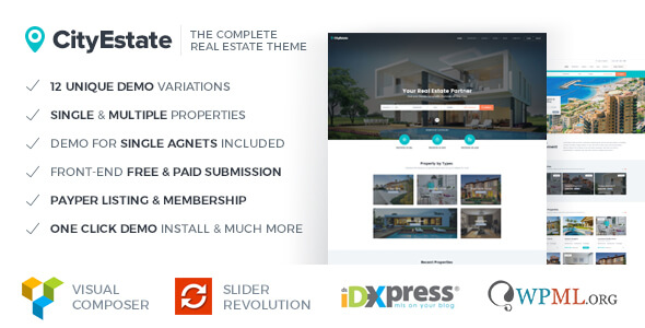 CityEstate - Complete Real Estate WordPress Theme