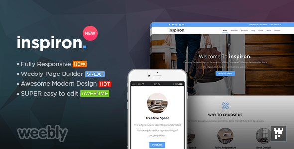 inspiron - Multipurpose Weebly Template