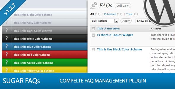 Sugar FAQs - WordPress FAQ Management Plugin