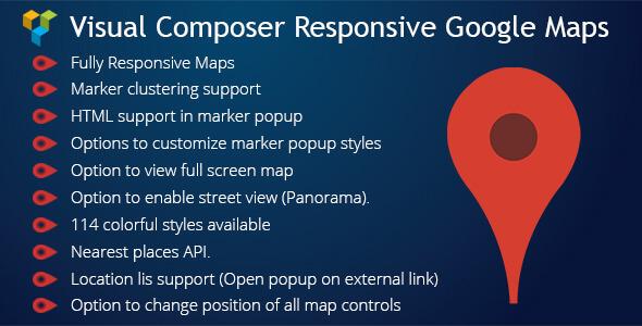 Visual Composer Responsive Google Maps