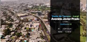 Terreno en Avenida Javier Prado